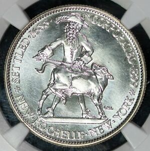 1938 NGC MS67 PL CAC NEW ROCHELLE SILVER COMMEMORATIVE HALF DOLLAR  ITEMT10335
