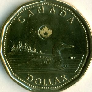 2013 DOUBLE PUNCHED REVERSE LOONIE UNCIRCULATED PL QUALITY