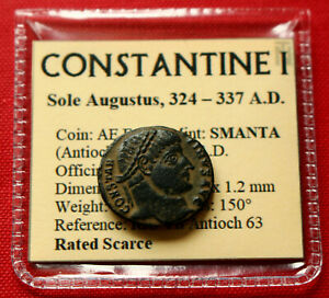 Click now to see the BUY IT NOW Price! GENUINE  ROMAN COIN CONSTANTINE I FOLLIS ANTIOCH GATE 330AD