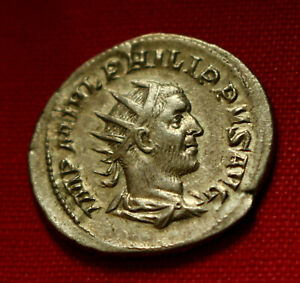 Click now to see the BUY IT NOW Price! GENUINE ROMAN COIN PHILIP SILVER ANTONINIANUS VICTORIA ROME 249AD