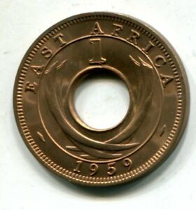 EAST AFRICA 1959 KN ONE CENT KM 35 UNCIRCULATED