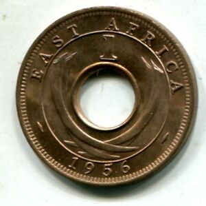 EAST AFRICA 1956 KN ONE CENT KM 35 UNCIRCULATED