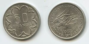 G1237   CAMEROON 50 FRANCS 1976 E KM11 XF  CENTRAL AFRICAN STATES KAMERUN
