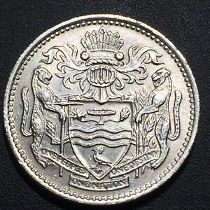 OLD FOREIGN WORLD COIN: 1967 GUYANA 10 CENTS