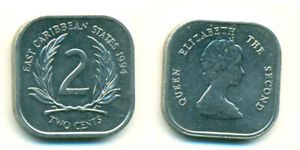 1994 EAST CARIBBEAN STATES 2 CENT COIN