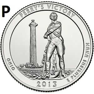 2013 P  UNCIRCULATED  PERRY'S VICTORY; OHIO ATB QUARTER US QUARTER DOLLAR