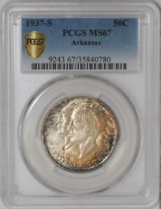 Click now to see the BUY IT NOW Price! 1937 S ARKANSAS 50C  MS67 SECURE PLUS PCGS   938855 15