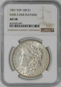 Click now to see the BUY IT NOW Price! 1901 MORGAN DOLLAR $ VAM 3 DDR FEATHERS AU58 NGC  938369 6