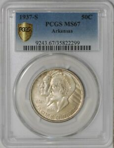 Click now to see the BUY IT NOW Price! 1937 D ARKANSAS 50C MS67 SECURE PLUS PCGS   938842 15