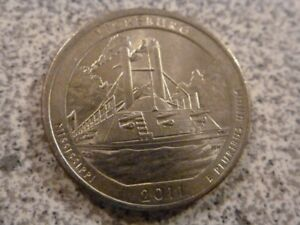 2011 P  UNCIRCULATED  VICKSBERG; MISSISSIPPI ATB QUARTER US QUARTER DOLLAR