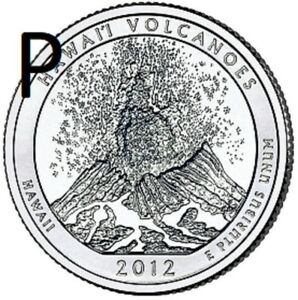 2012 P  CIRCULATED AU  VOLCANOES; HAWAII ATB QUARTER US QUARTER DOLLAR