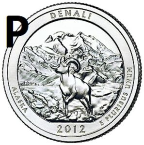 2012 P  UNCIRCULATED  DENALI; ALASKA ATB QUARTER US QUARTER DOLLAR