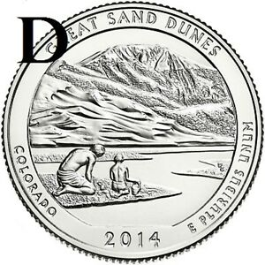 2014 D  UNCIRCULATED  SAND DUNES; COLORADO ATB QUARTER US QUARTER DOLLAR