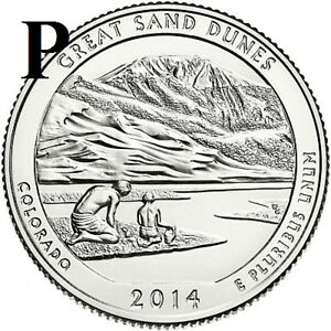 2014 P  UNC  GREAT SAND DUNES; COLORADO ATB QUARTER US QUARTER DOLLAR
