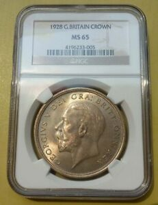 Click now to see the BUY IT NOW Price! GREAT BRITAIN 1928 KING GEORGE V SILVER WREATH CROWN COIN NGC MS65