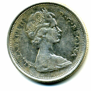 1965 CANADIAN QUARTER SILVER 25 CENT SHARP ABOVE AVERAGE DETAIL CANADA COIN4278