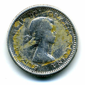 1961 SILVER CANADIAN DIME 10 CENT SHARP ABOVE AVERAGE CANADA TEN C COIN4280