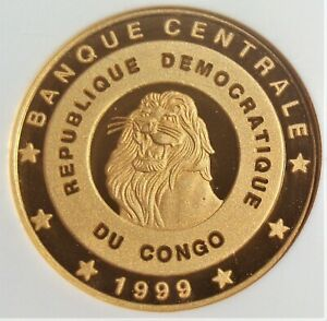 Click now to see the BUY IT NOW Price! CONGO: 1999 GOLD 100 FRANCS DR. LIVINGSTONE KM 177 NGC PF 68 ULTRA CAMEO.