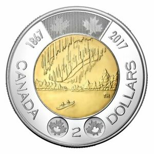 2017 CANADA 150 YEAR ANNIVERSARY $2 TOONIE MINT SEALED  PROOFLIKE FROM SET