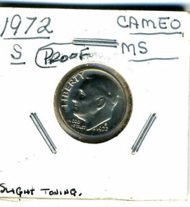 1972 S PR BU PROOF ROOSEVELT DIME 10 CENT BRILLIANT UNCIRCULATED PF US COIN3081