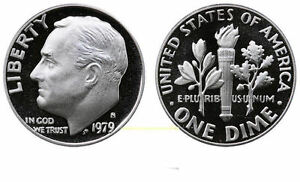 1979 S GEM BU PROOF ROOSEVELT DIME 10 CENT BRILLIANT UNCIRCULATED US COIN PF