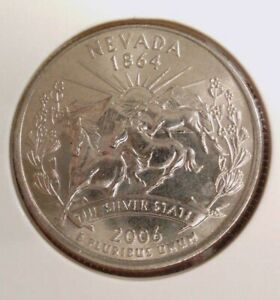 2006 D NEVADA STATE  NV  QUARTER UNCIRCULATED FROM BANK ROLLS  STATE QUARTERS