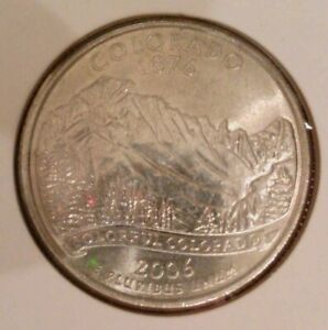 2006 P COLORADO STATE  CO  QUARTER UNCIRCULATED FROM BANK ROLLS  STATE QUARTERS