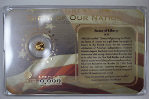 2009 BIRTH OF OUR NATION STATUE OF LIBERTY .5 GRAM .585 FINE GOLD COIN   AMERICA