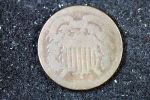 ESTATE FIND 1864   SHIELD TWO CENTS     H16859