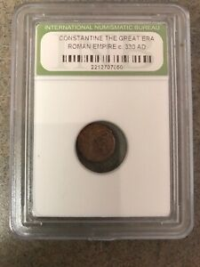OLD ANCIENT CONSTANTINE GREAT 330AD ROMAN EMPIRE ERA WAR COLLECTION COIN