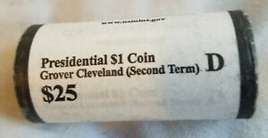 GROVER CLEVELAND  SECOND TERM 2012 D BU PRESIDENTIAL DOLLAR ROLL OF 25 H/T