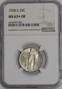 Click now to see the BUY IT NOW Price! 1928 S STANDING LIBERTY QUARTER 25C MS67  FH NGC  937461 2