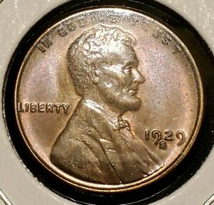 1929 S LINCOLN WHEAT CENT   GEM BU   LUSTROUS BETTER DATE