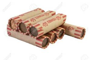 1 FULL ROLL OF PRE 1982 95  COPPER US PENNIES