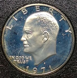 1971 U.S. SILVER EISENHOWER DOLLAR   PROOF   IN BOX AND SEALED IN HOLDER