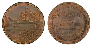 1860 GREAT EASTERN MERCHANT TOKEN COPPER MILLER NY 2053A NGC MS65RB