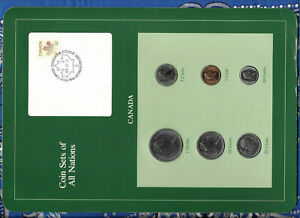 COIN SETS OF ALL NATIONS CANADA CANOE ALL 1984 UNC