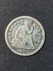 1841 O NEW ORLEANS MINT SEATED LIBERTY SILVER HALF DIME