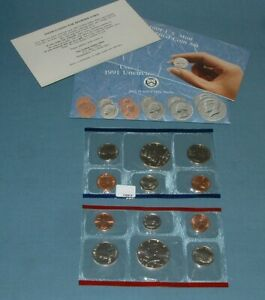 1991 U.S. MINT SET   10 COINS