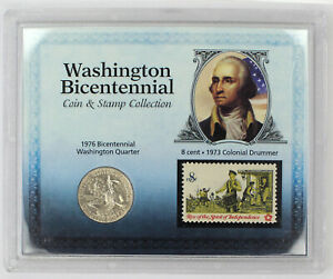 WASHINGTON BICENTENNIAL COIN & STAMP COLLECTION GIFT SET 1 COIN W/COA