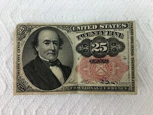 1874 TWENTY FIVE 25 CENTS FRACTIONAL CURRENCY PAPER NOTE