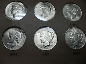 Click now to see the BUY IT NOW Price! PEACE DOLLAR COLLECTION BOOK COMPLETE  AU UNC
