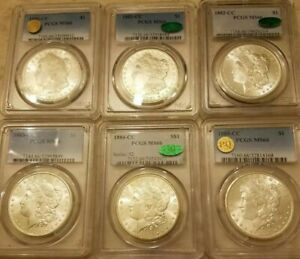 Click now to see the BUY IT NOW Price! [LOT OF 6]ALL PCGS MS66 1880 CC  1881 CC  1882 CC  1883 CC  1884 CC  1885 CC