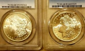 Click now to see the BUY IT NOW Price! [LOT OF 2] 1880 S PCGS MS68  1881 S PCGS MS68