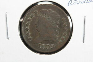 1809 HALF CENT 180 DEGREE ROTATED REVERSE ERROR