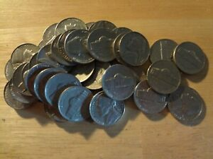 Click now to see the BUY IT NOW Price! FULL ROLL 1968 S JEFFERSON NICKELS  AVG. CIRCULATED  40 COINS