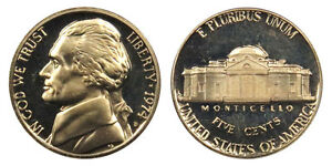 1974 S GEM BU PROOF JEFFERSON NICKEL 5 CENT BRILLIANT UNCIRCULATED US COIN PF