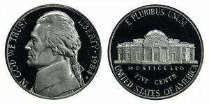 1984 S GEM BU PROOF JEFFERSON NICKEL 5 CENT BRILLIANT UNCIRCULATED US COIN PF