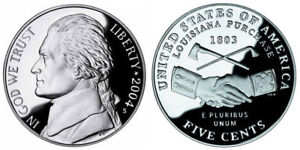 2004 S GEM BU PROOF JEFFERSON PEACE MEDAL NICKEL BRILLIANT UNCIRCULATED COIN PF