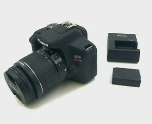 CANON EOS REBEL T7 DSLR CAMERA 24.1MP WITH 18 55 LENS  FULL HD 1080/30P VIDEO